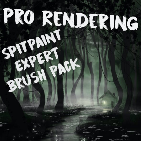 Pro Rendering Spit-painting Brushes