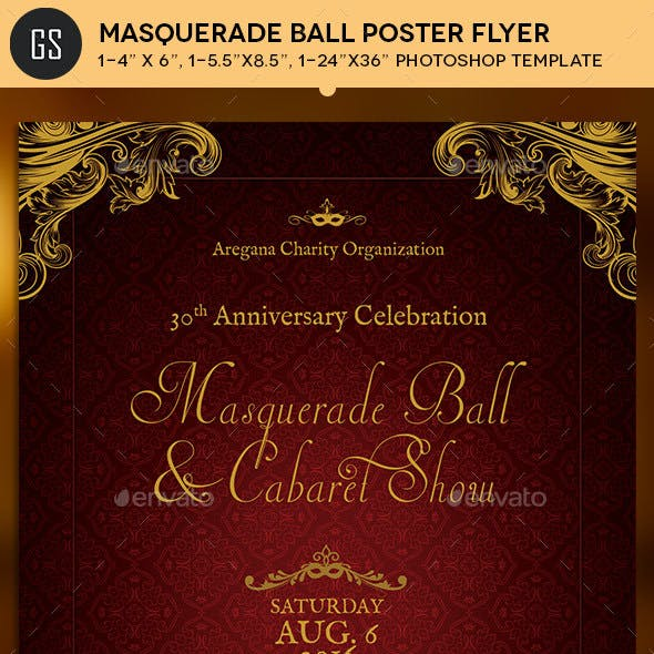 Masquerade Ball Flyer Poster Template