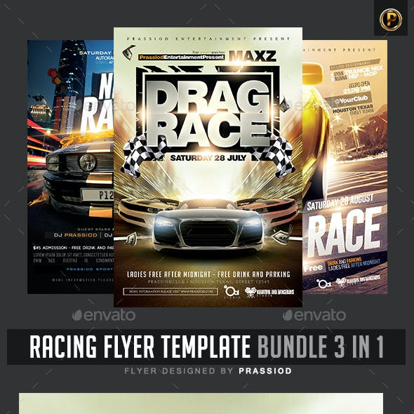 Racing Flyer Template - Bundle 3 in 1