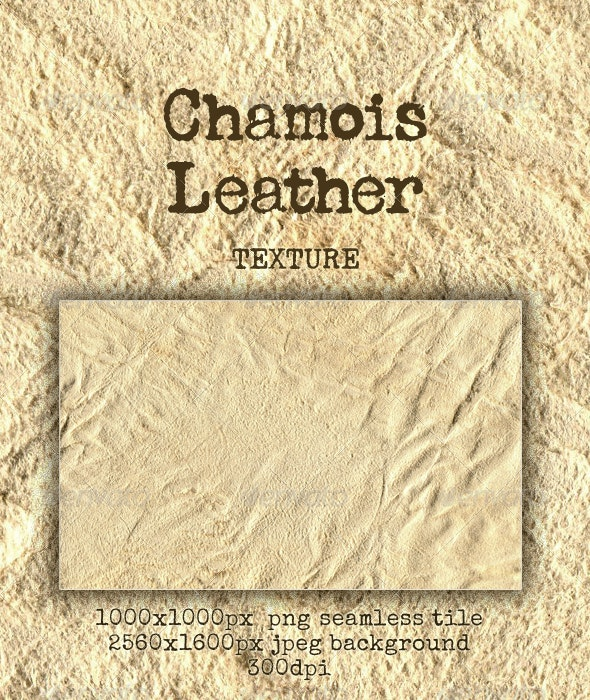 Chamois-Chammy Leather; Natural - Fabric Textures