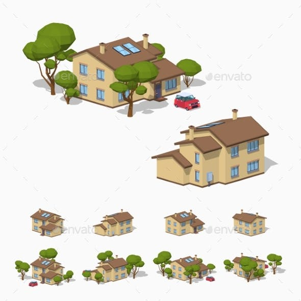 Low Poly Suburban House
