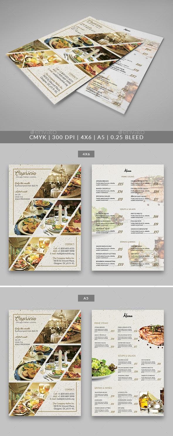 Capricia Restaurant Flyer Template - Restaurant Flyers