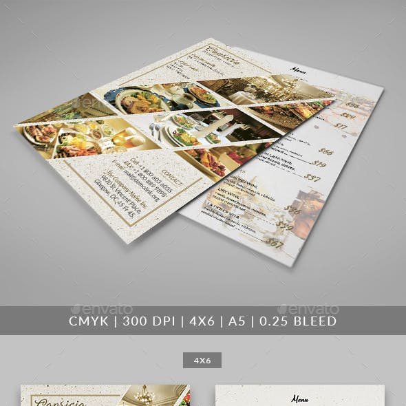 Capricia Restaurant Flyer Template