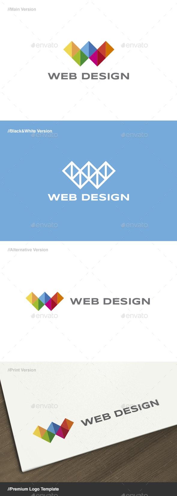 Web Design 3 - Letter W Logo - Letters Logo Templates
