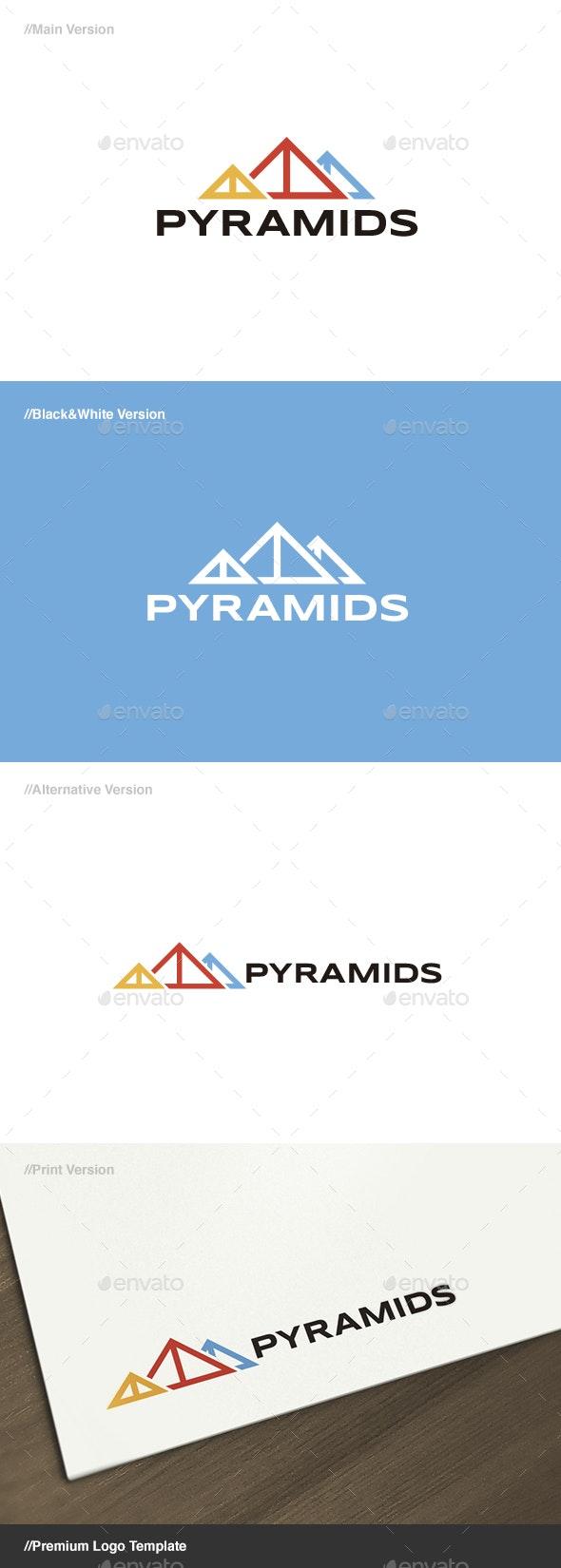 Pyramids Logo - Buildings Logo Templates