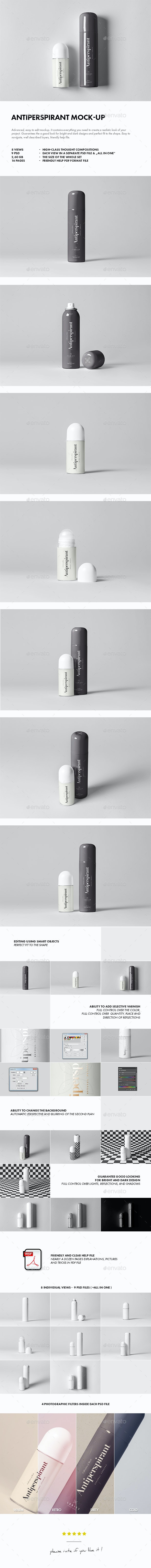 Antiperspirant Mock-up - Beauty Packaging