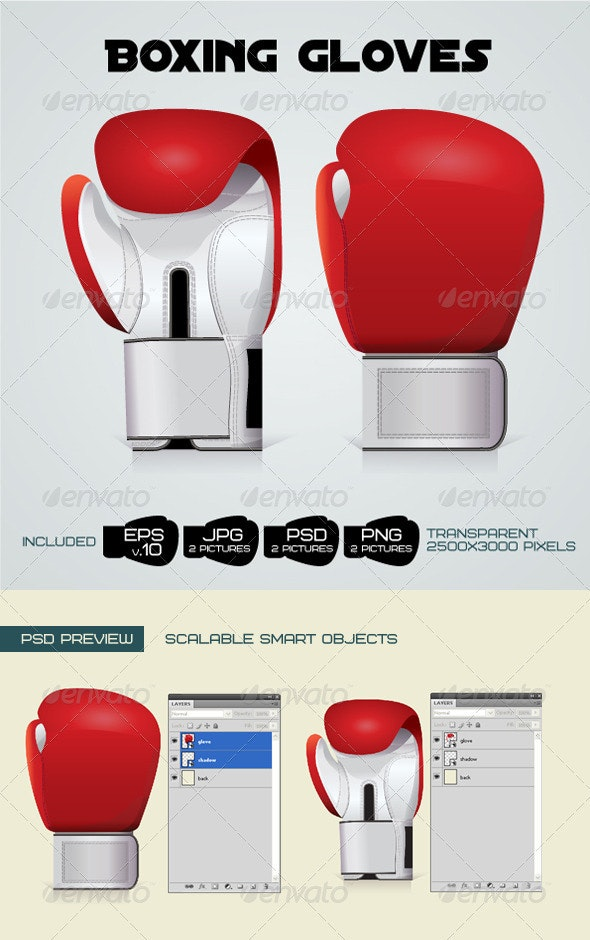 Boxing Gloves  - Objects Illustrations