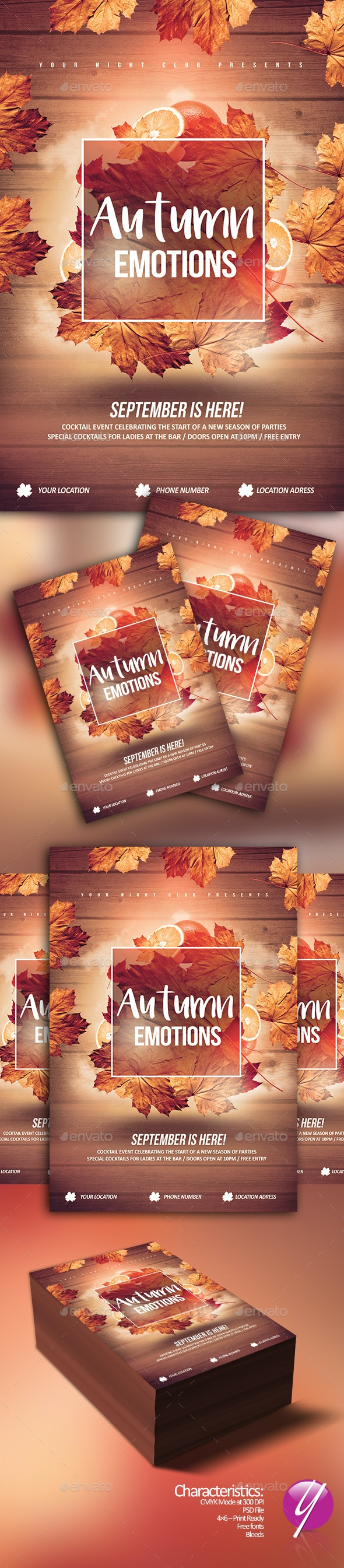 Autumn Emotions - Clubs & Parties Events