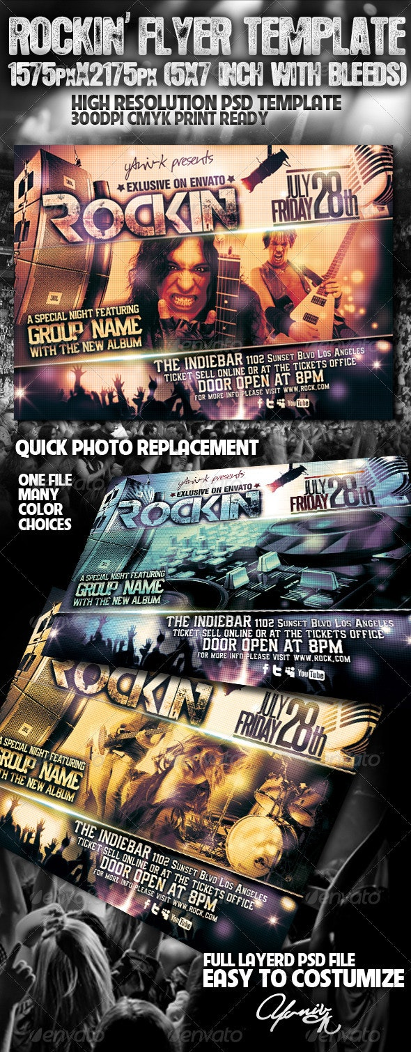 Rockin' Flyer Template - Flyers Print Templates