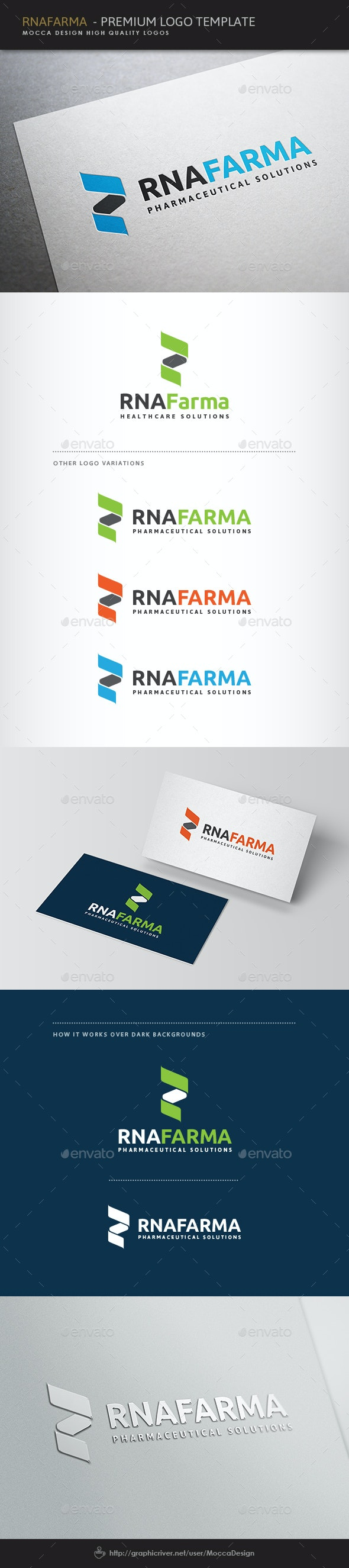 RNAfarma Logo - Vector Abstract
