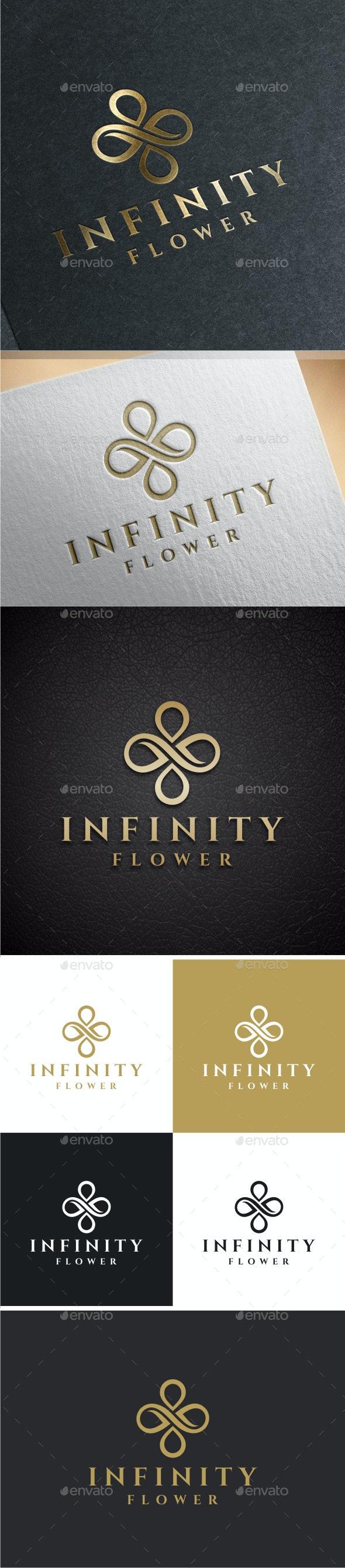 Infinity Flower Logo - Nature Logo Templates