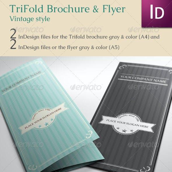 Trifold Brochure & Flyer Vintage