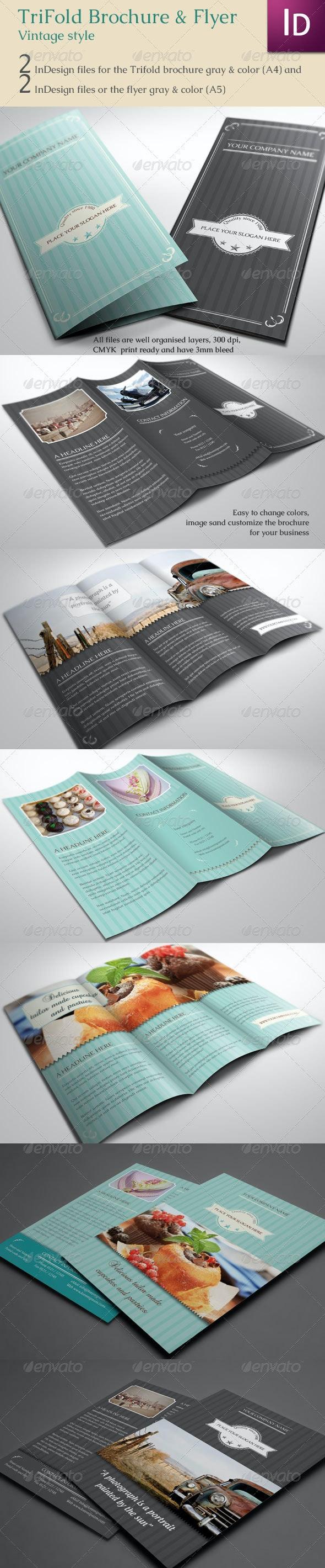 Trifold Brochure & Flyer Vintage - Corporate Brochures