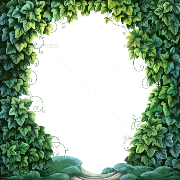 Frame For Text Decoration Enchanted Forest - Backgrounds Decorative