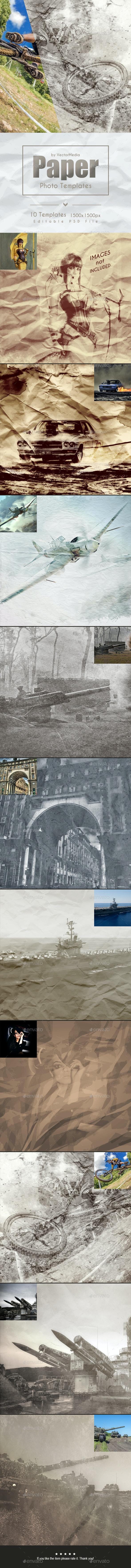 Paper - Photo Templates - Artistic Photo Templates
