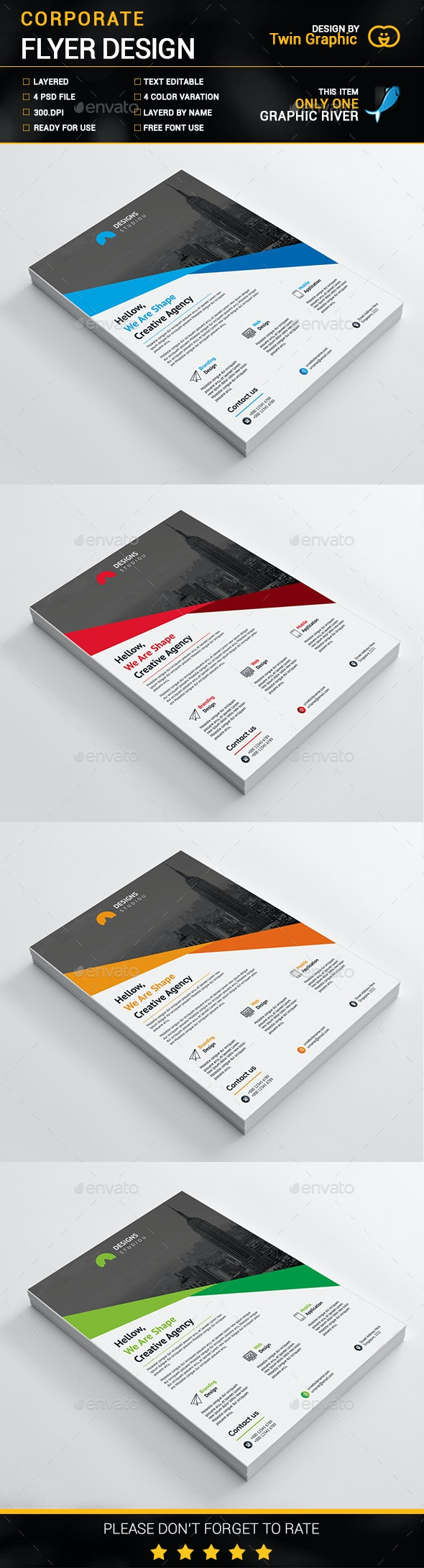 Corporate Flyer Design. - Flyers Print Templates