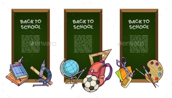Back to School Set of Banners - Web Technology