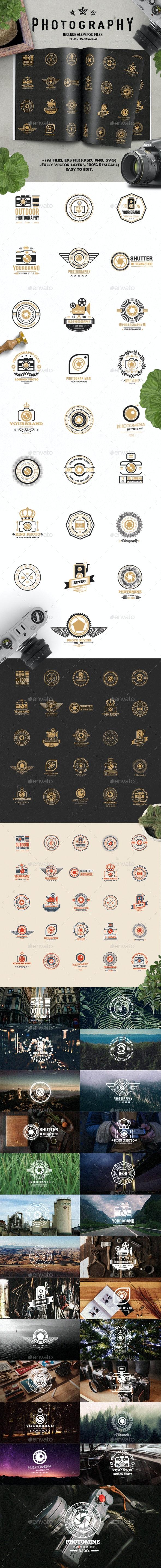 25 Photography Logo Design - Badges & Stickers Web Elements