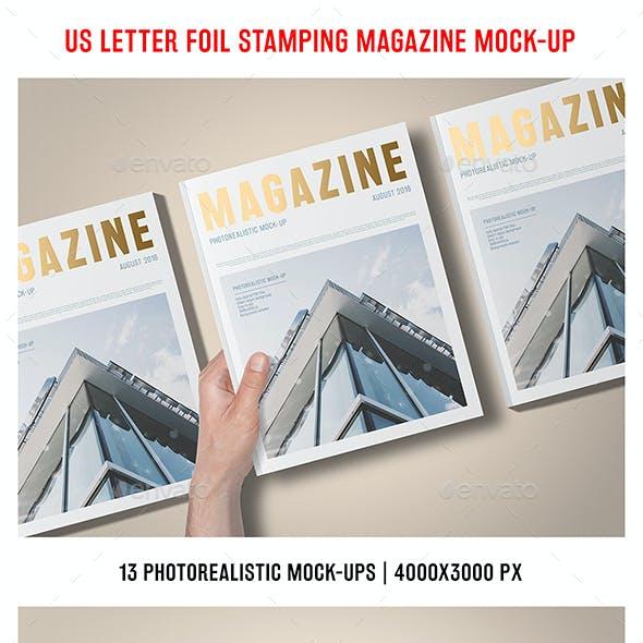 US Letter Foil Stamping Magazine Mock-Up