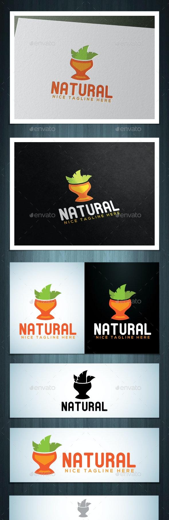 Natural Logo - Food Logo Templates