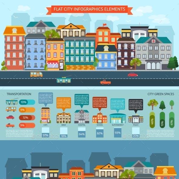 Flat City Elements Infographics