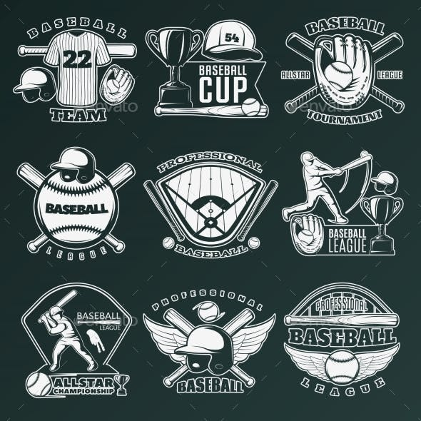 Baseball Monochrome Emblems