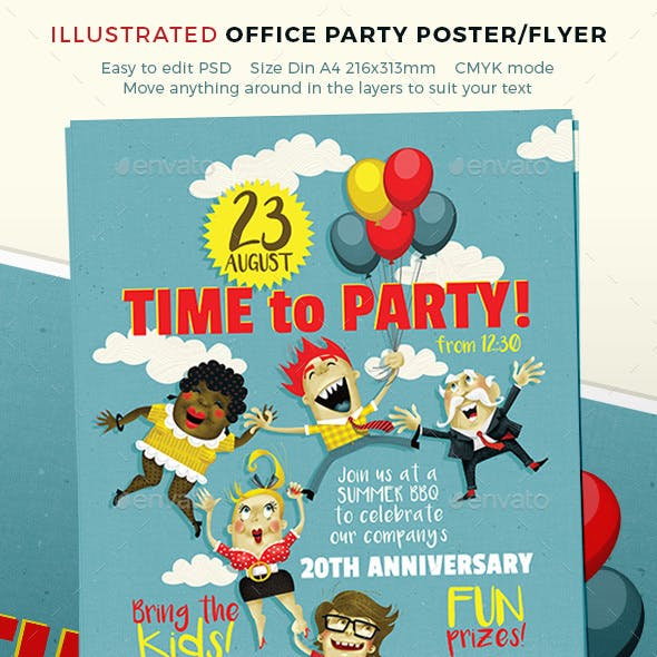 Party Poster for Team or Office Event