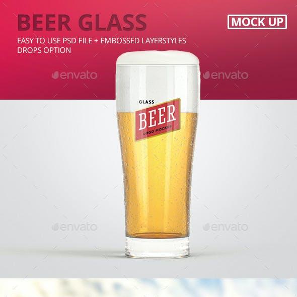 Beer Glass Logo Mock-Up