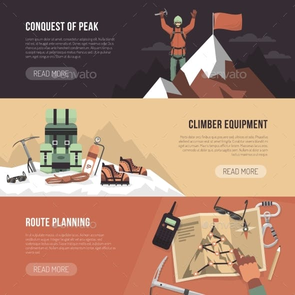 Mountaineering Design Banner