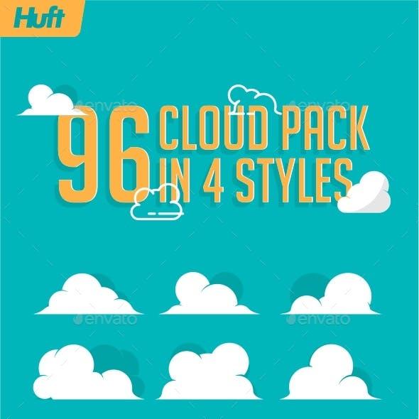 96 Cloud Pack in 4 Styles