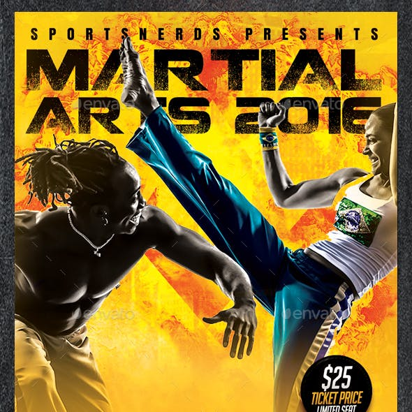 Martial Arts Championships Sports Flyer