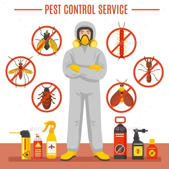 Pest Control Service Illustration