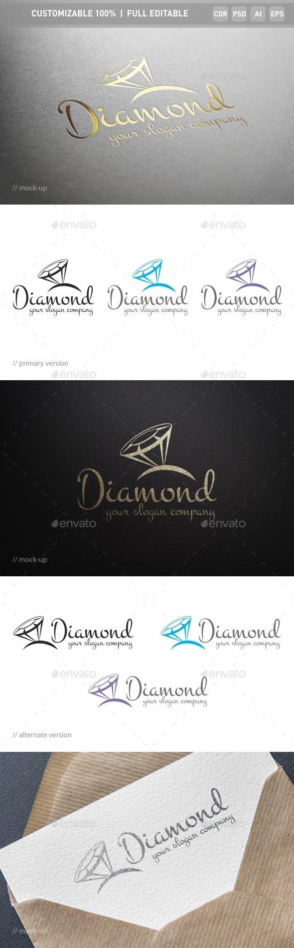 Diamonds Logo Template - Objects Logo Templates