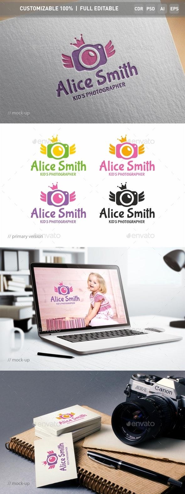 Kid's Photo Logo Template - Objects Logo Templates