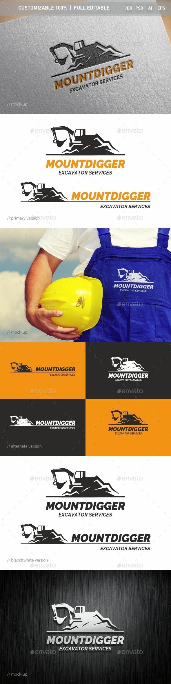 Mountdigger Logo Template - Objects Logo Templates