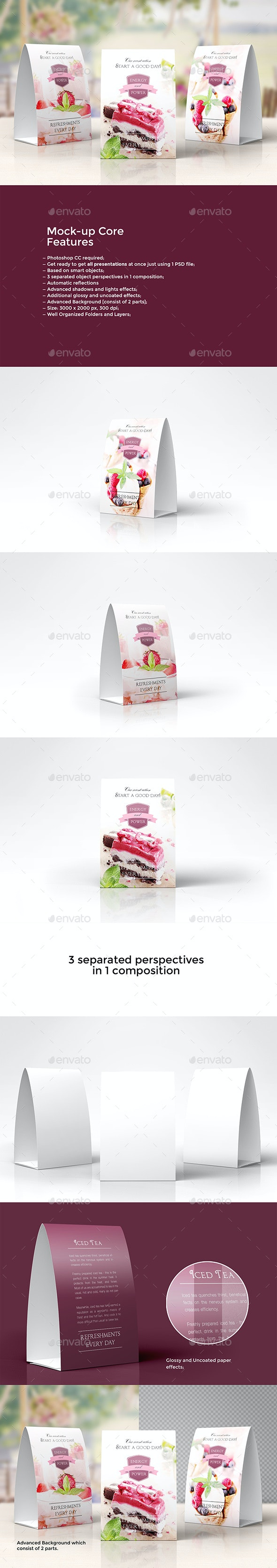 Promotional Table Talkers vol.1 - Print Product Mock-Ups