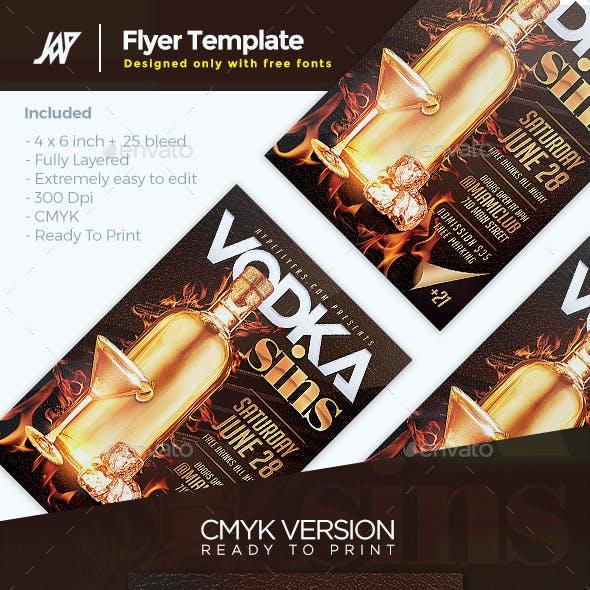 Vodka Drinks Flyer Template