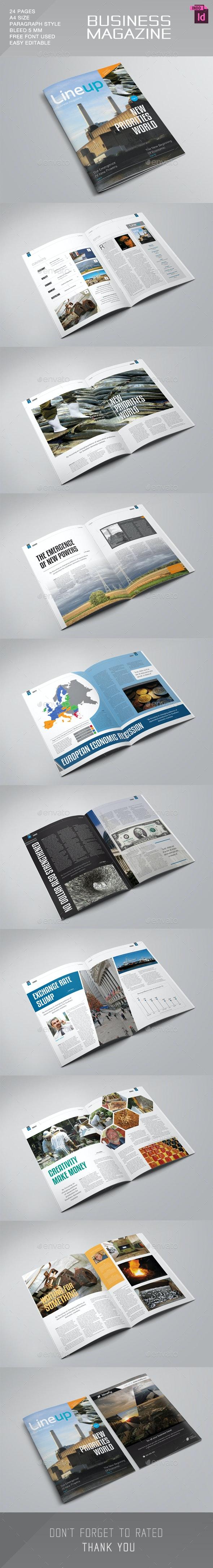Lineup Magazine Template - Magazines Print Templates