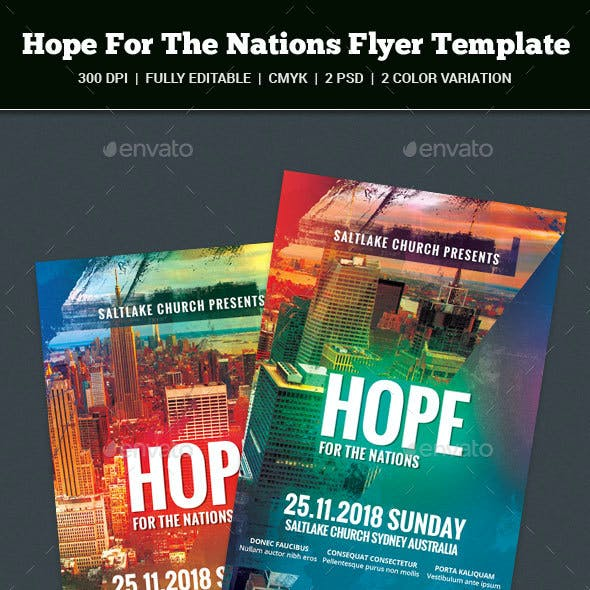 Hope For The Nations Flyer