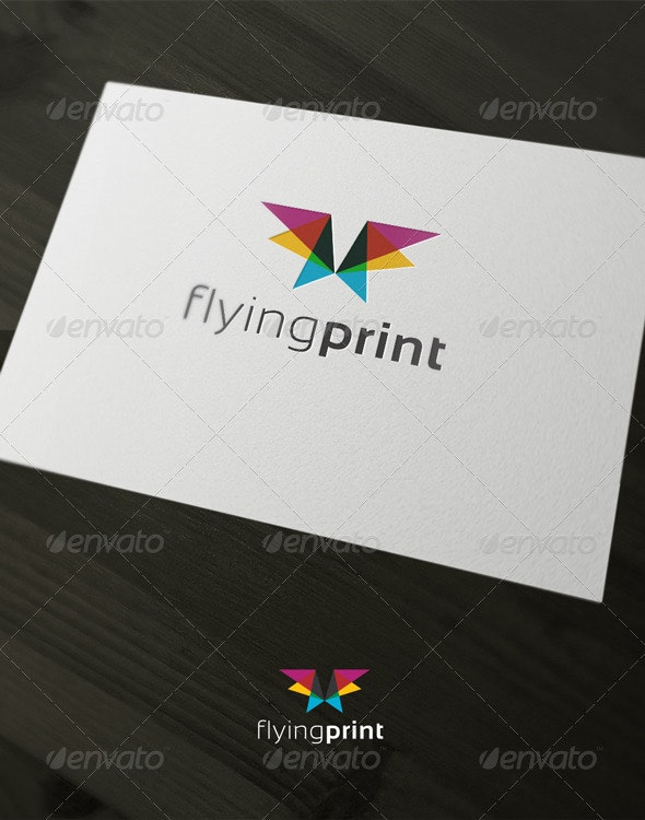 Flying print - Vector Abstract