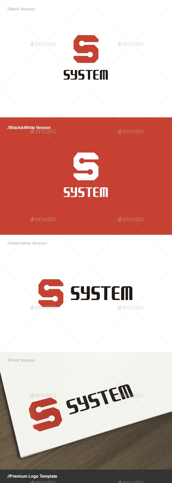 System - Letter S Logo - Letters Logo Templates
