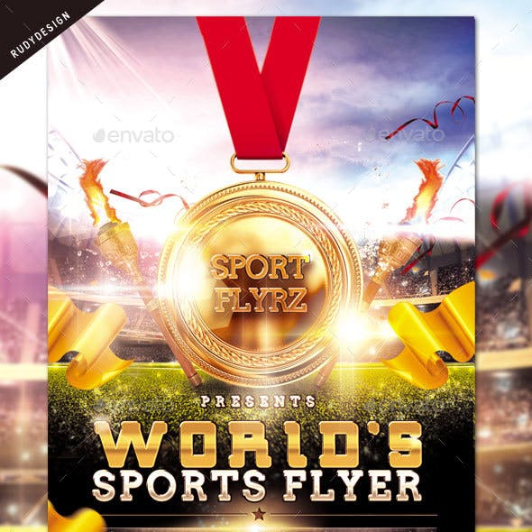 Worlds Sports Games Flyer
