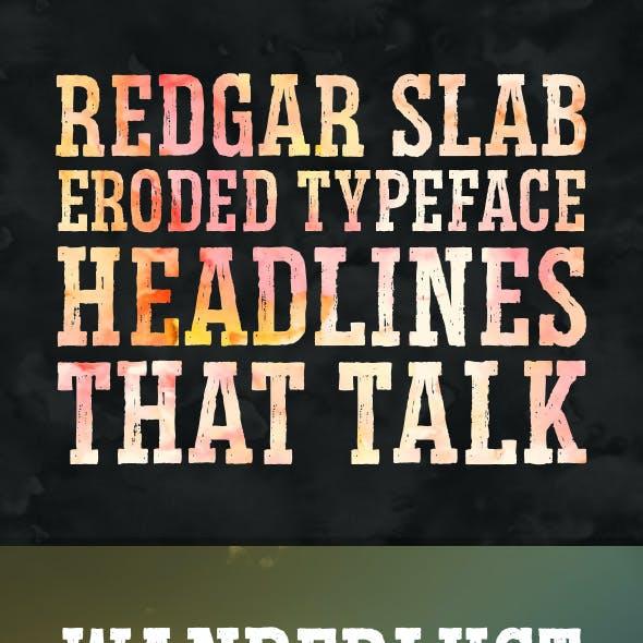 Redgar Slab Typeface