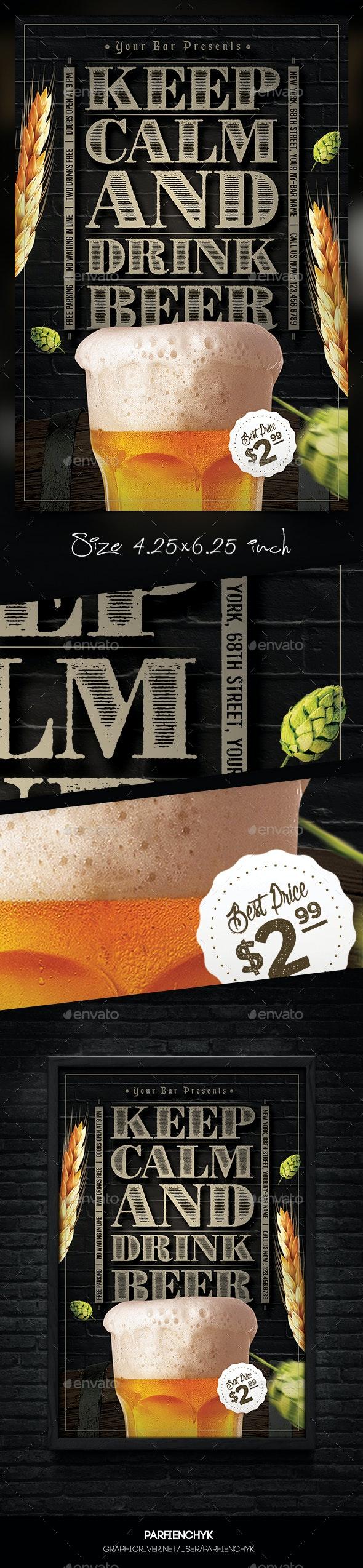 Beer Flyer Template - Restaurant Flyers