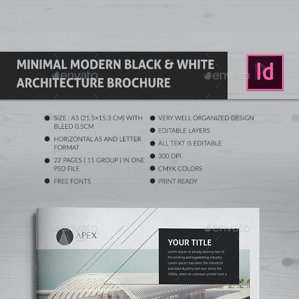 Minimal Modern Black & White Architecture Brochure Indd v