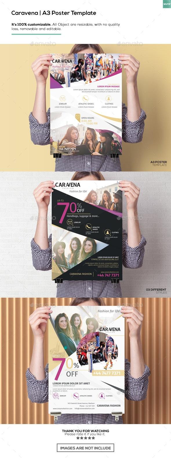 Caravena | A3 Poster Template - Miscellaneous Print Templates