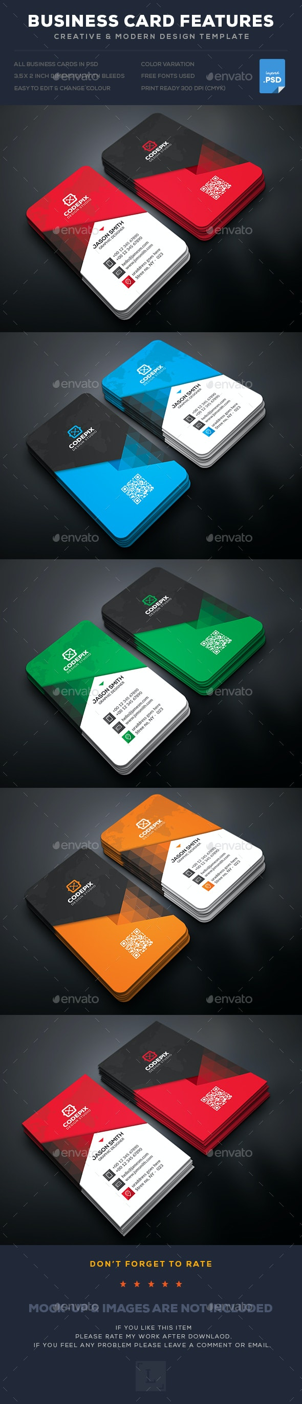 Business Card - Business Cards Print Templates