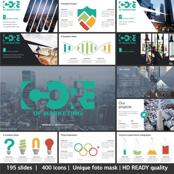 Core Of Marketing Powerpoint Creative Template