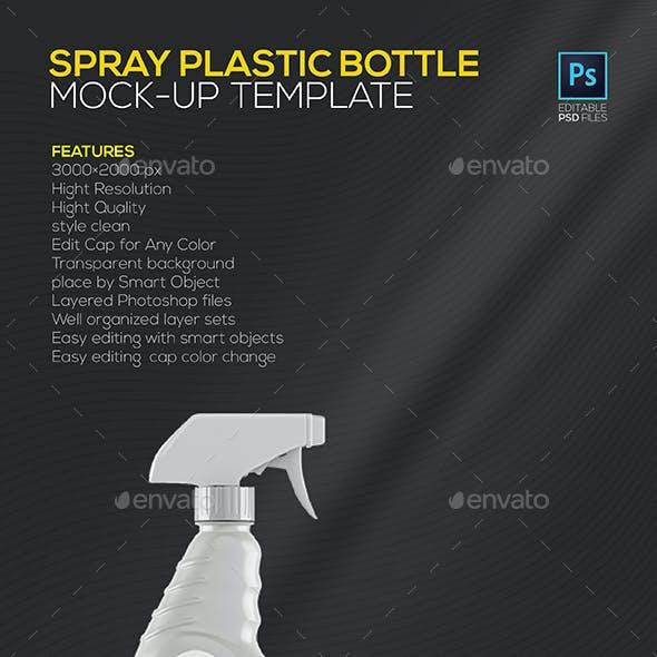 Spray Plastic Bottle Mock-up Template
