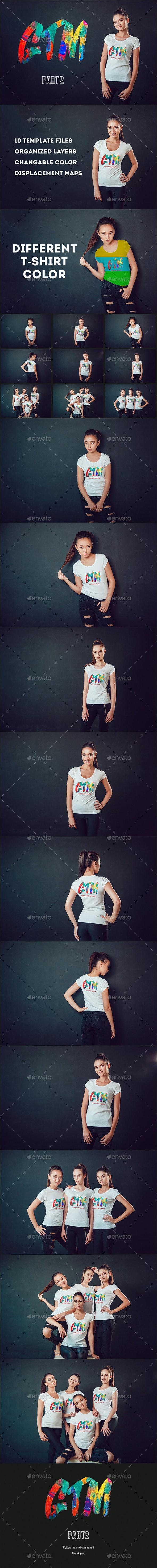 Women's T-shirts Mock-Up Vol 2 - T-shirts Apparel